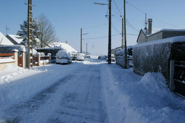Rue du levant sous la neige