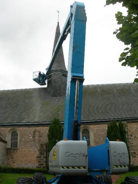 Travaux sur clocher église 1