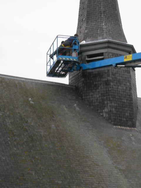 Travaux sur clocher église 2