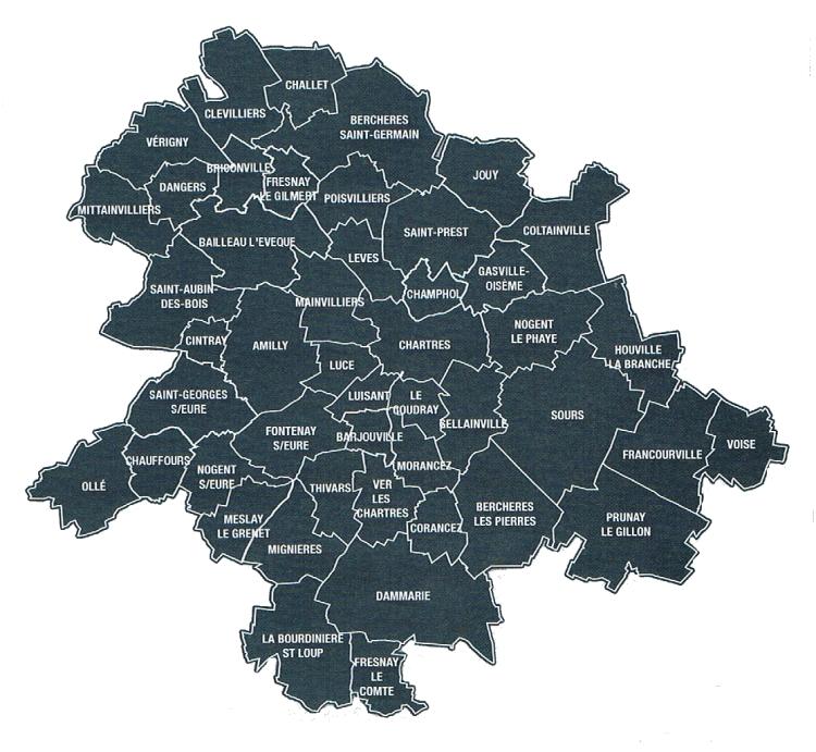 47 communes chartres metropole
