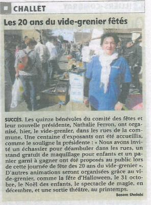 Article echo republicain du 07/09/2015